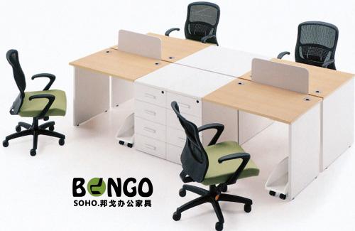 四人對坐組合 板式簡約辦公桌 JS-GZ1512