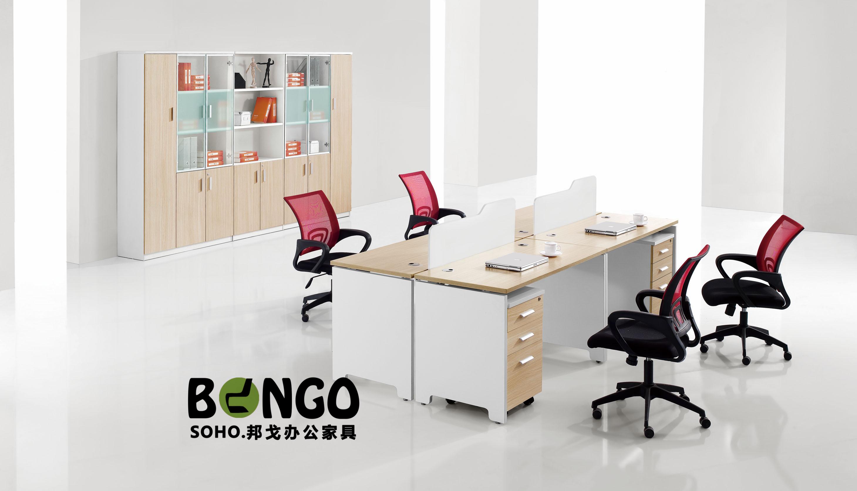 四人对坐组合 板式简约办公桌 JS-GZ1507