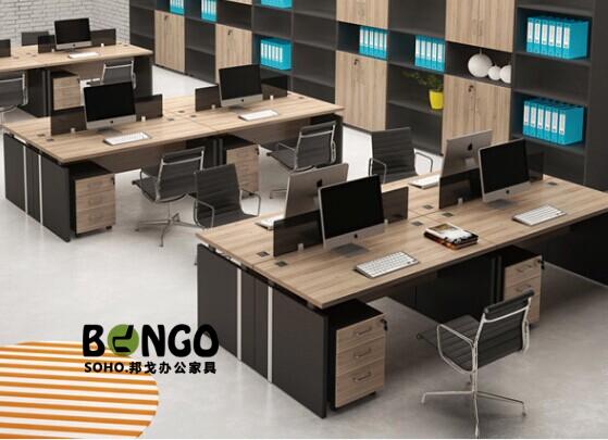 四人对坐组合 板式现代办公桌 HG-GZ1513
