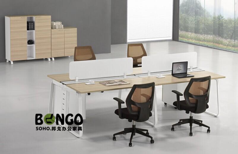 四人对坐组合 板式现代办公桌 HG-GZ1504