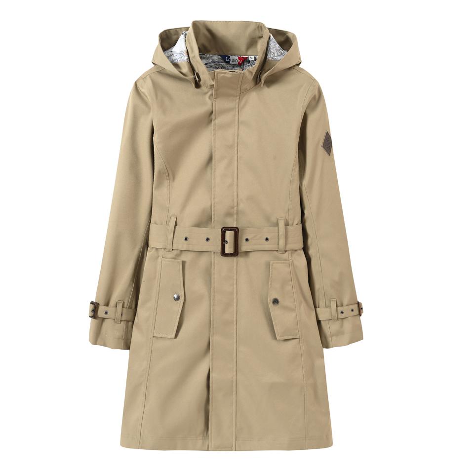 女式经典腰带旅行风衣(三色-女式中长款防风防泼水风衣)-CFA972536
