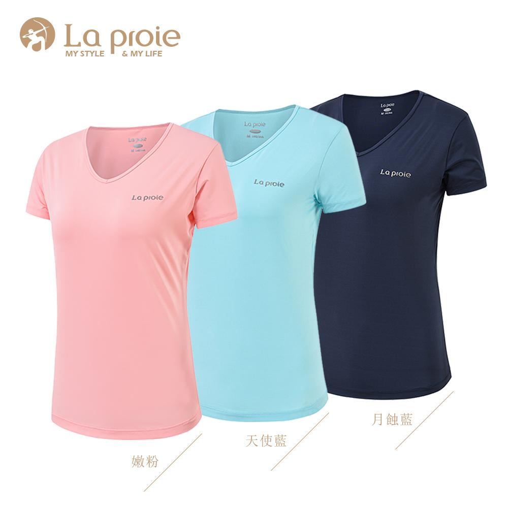 女式保水胶原蛋白圆领T恤(三色-亲肤舒适环保功能T恤)-CH1962444