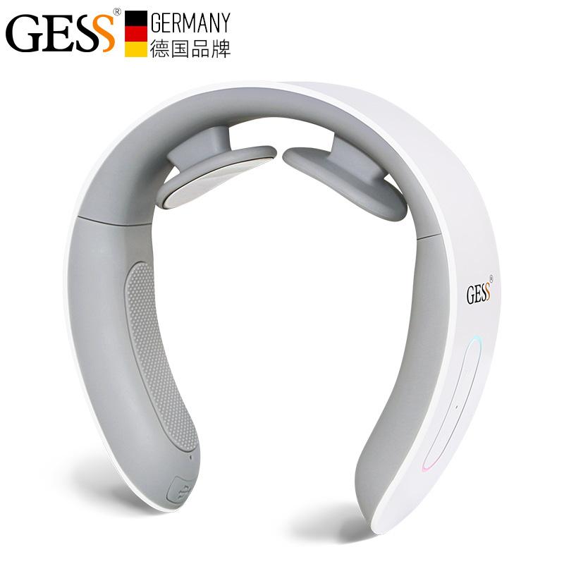 GESS210颈椎按摩器颈部 多功能脉冲震动热敷按摩仪脖子智能护颈仪