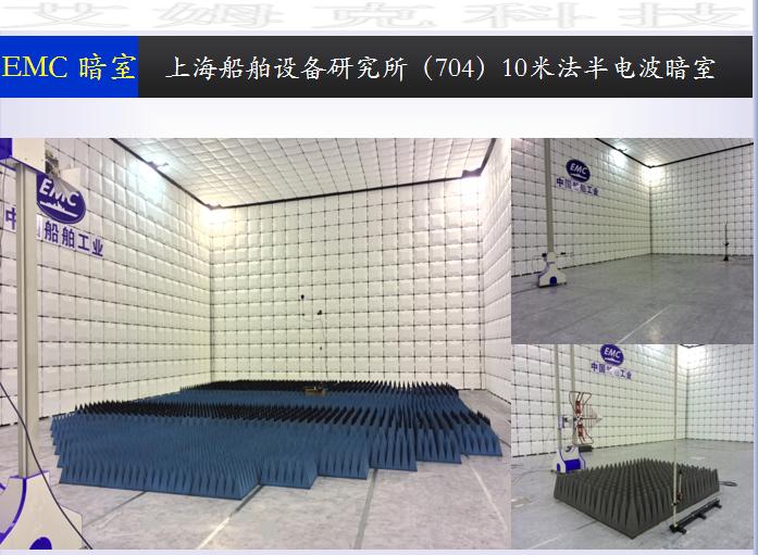 Shanghai Marine Equipment Research Institute 10 m method anechoic chamber