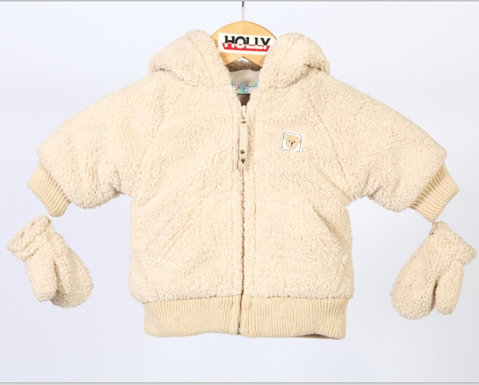 儿童带手套棉绒外套 Kid's fleece coat with gloves