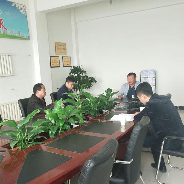 中国网王主任来我公司进行采访指导