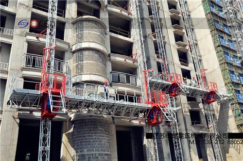 附着式施工升降平台(双桅柱安装结构)