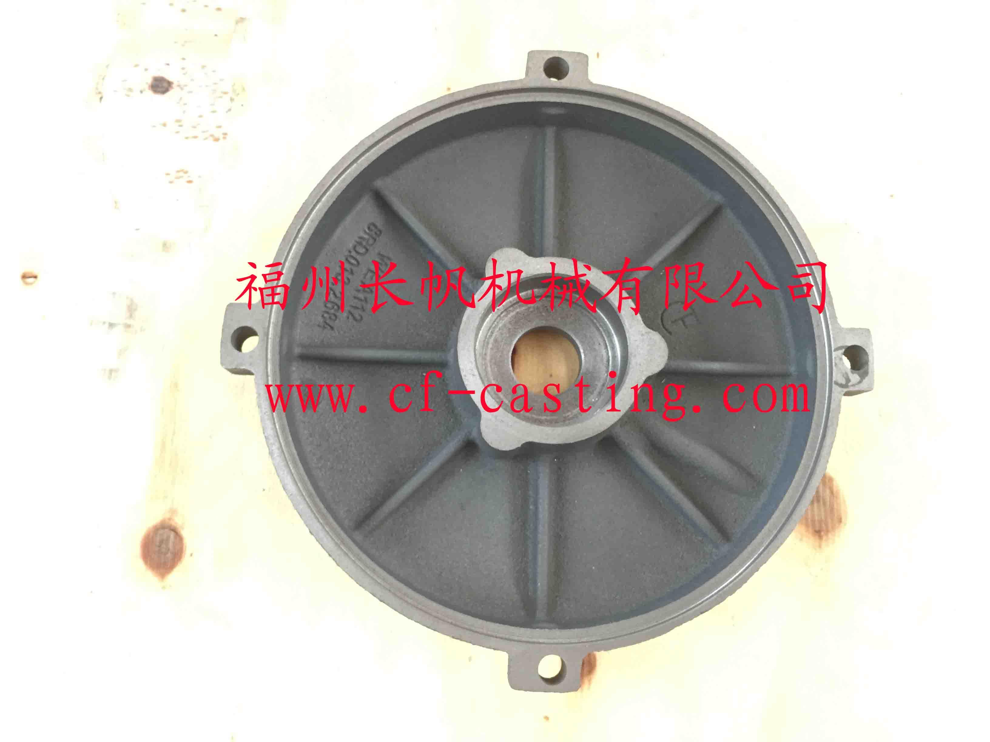 WEA112工业电机后盖  CF 长帆 CF爱博彩票官网铸造 CF爱博彩票官网铸件 CF水泵铸造铸件
