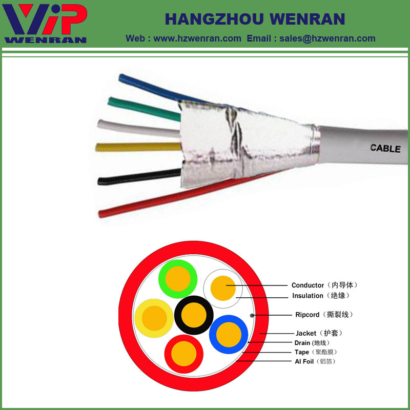 6 Cores Shielded Alarm Cable