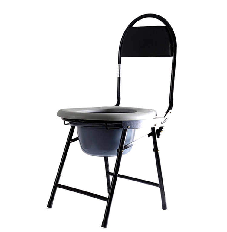 塑料座面便携式坐便椅