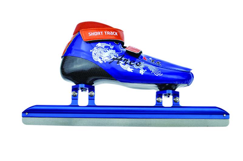 XS3116-02-2 初级速滑短道刀鞋 [二层碳] 战神(蓝)