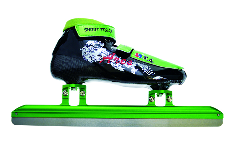 XS3116-02-1初级速滑短道刀鞋【二层碳】战神 绿