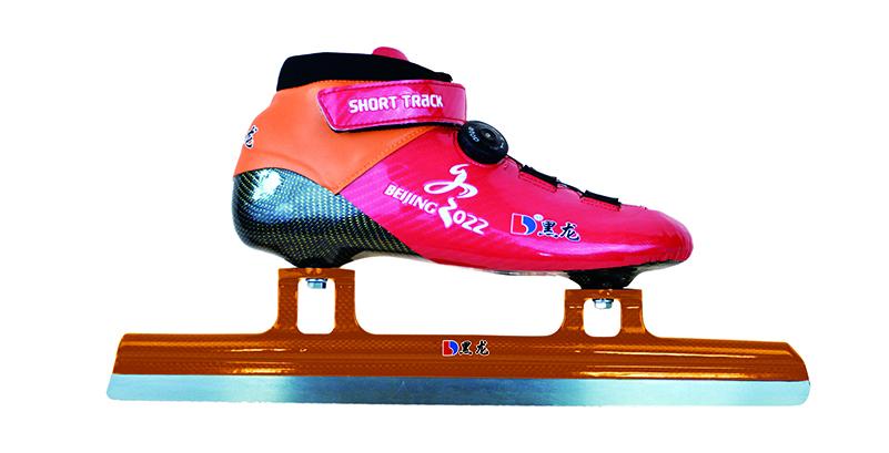 XS4116-01-1 特初级短讲速滑刀鞋  【扭转扣】白