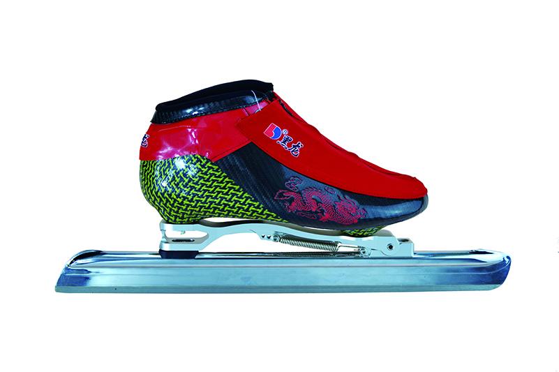 XS2216-01-2 中级大道速滑刀鞋 【龙款】 白