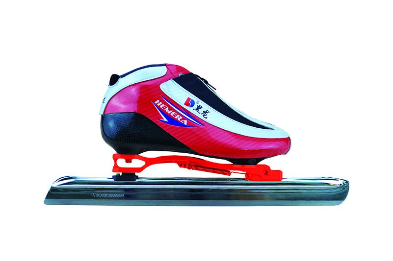 XS3216-01-1 初级速滑大道鞋【二层碳】光亮神 白黑