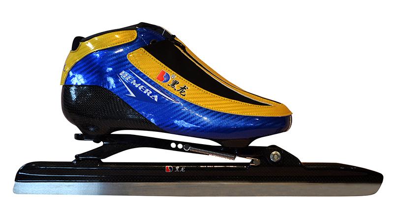XS3216-01-3 初级大道速滑刀鞋【五层碳】Hemera/光亮神 黄蓝