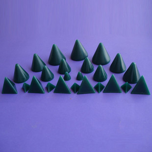 绿色圆锥形研磨石