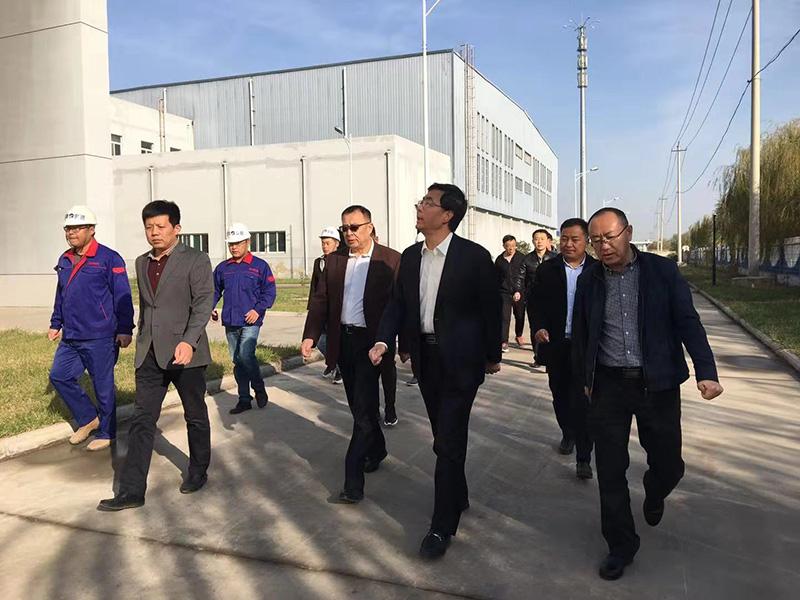 陵城区人民政府李希岩区长到陵城集中供热项目视察