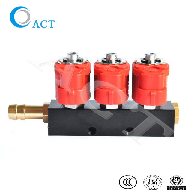 ACT injector rail 3cyl for cng lpg