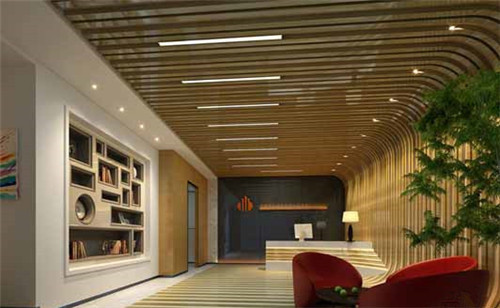 柜子精巧的造型与圆弧形的座椅设计为办公空间赋予了一份灵动.