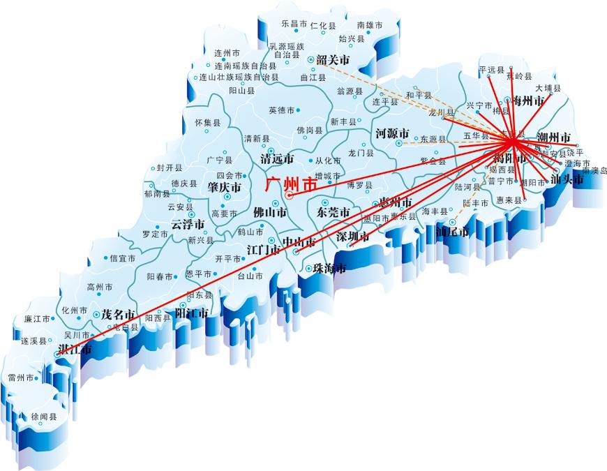 物流网络辐射图