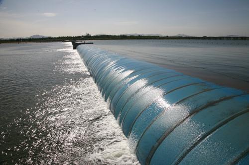 承德市五公里起步区第一道橡胶坝工程