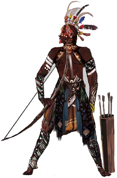 印第安服装男