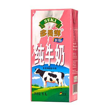 多美鲜脱脂牛奶 1L