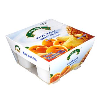 多美鲜脱脂果粒酸奶-杏果粒/菠萝果粒 4x100g
