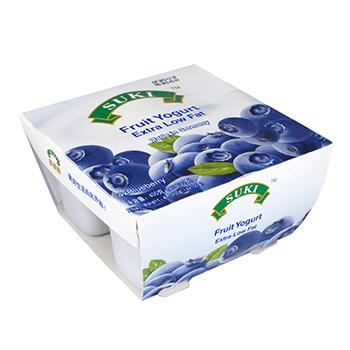多美鲜脱脂果粒酸奶-蓝莓果粒 4x100g