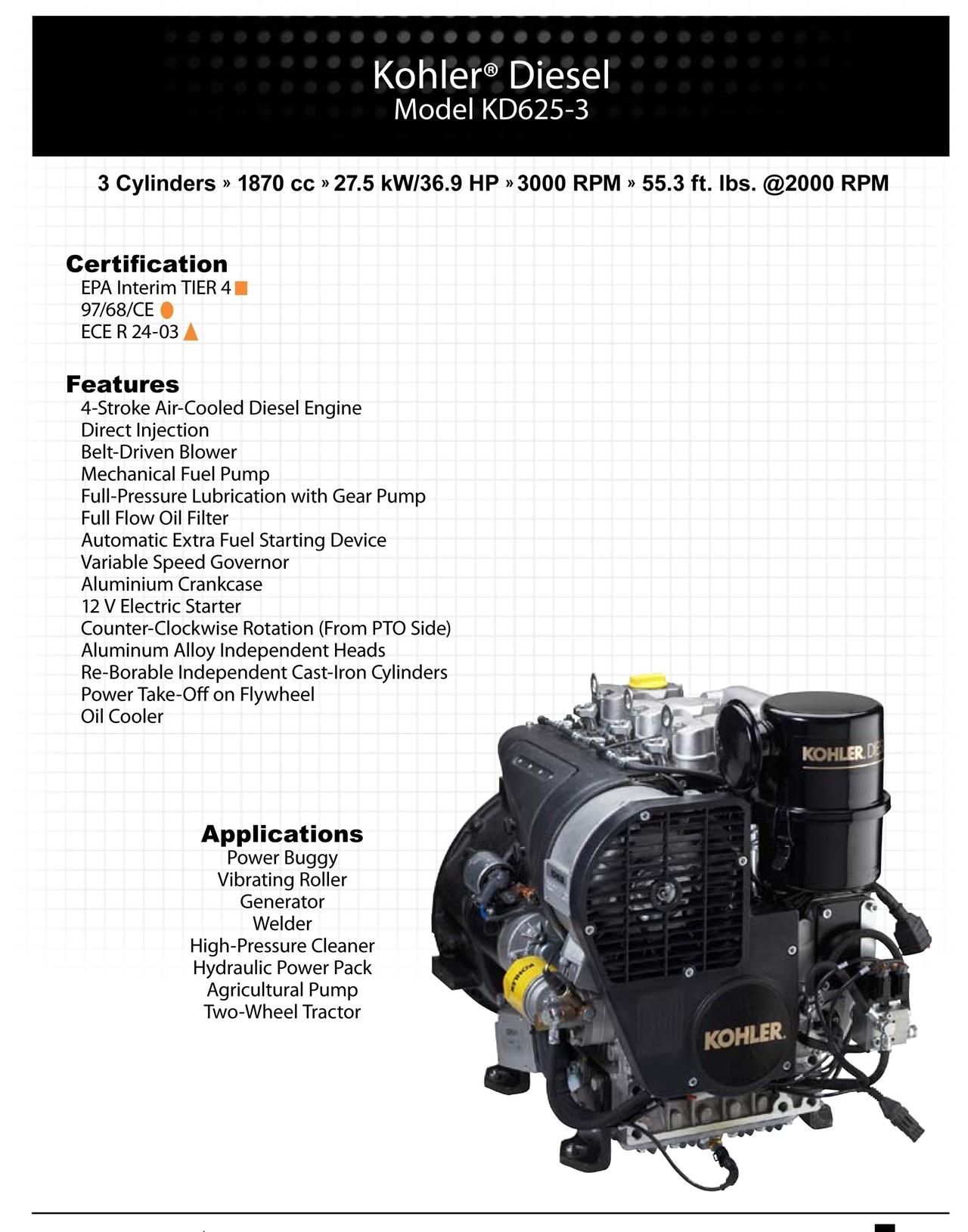 发动机 KD625-3