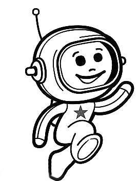 儿童简笔画机器人可爱型