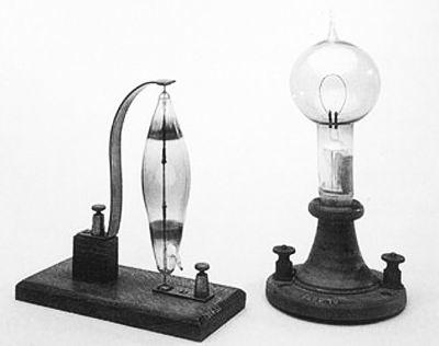 技史话 第一个电灯泡是爱迪生发明的吗