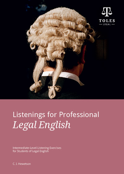 【TOLES官方教材】法律英语听力教程《Listenings for Professional Legal English》