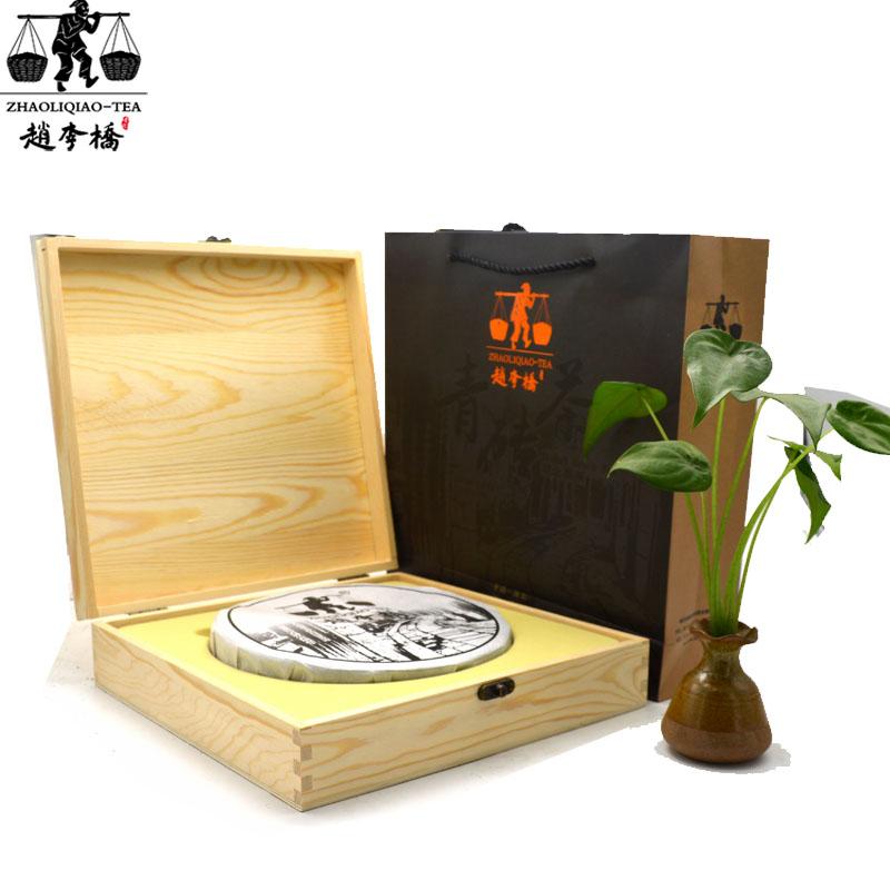 700g三国赤壁礼品茶(圆)烙印木盒