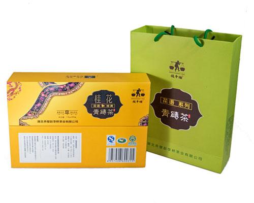 260g桂花礼品时尚青砖茶
