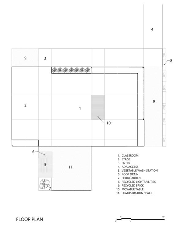 教学楼广场花坛设计平面图