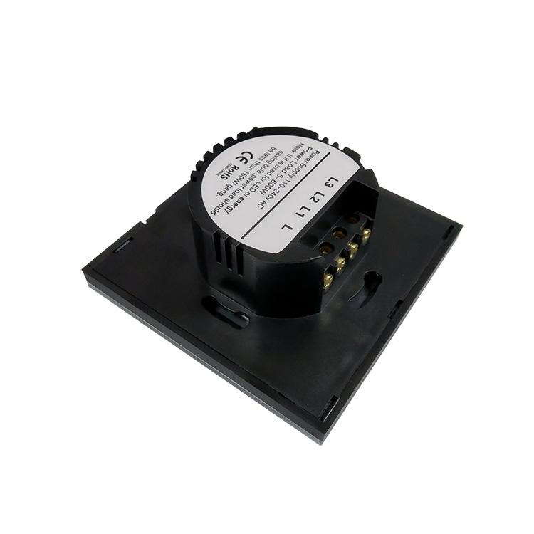 无线RF智能遥控开关 家庭酒店单火线触控感应墙壁开关3路