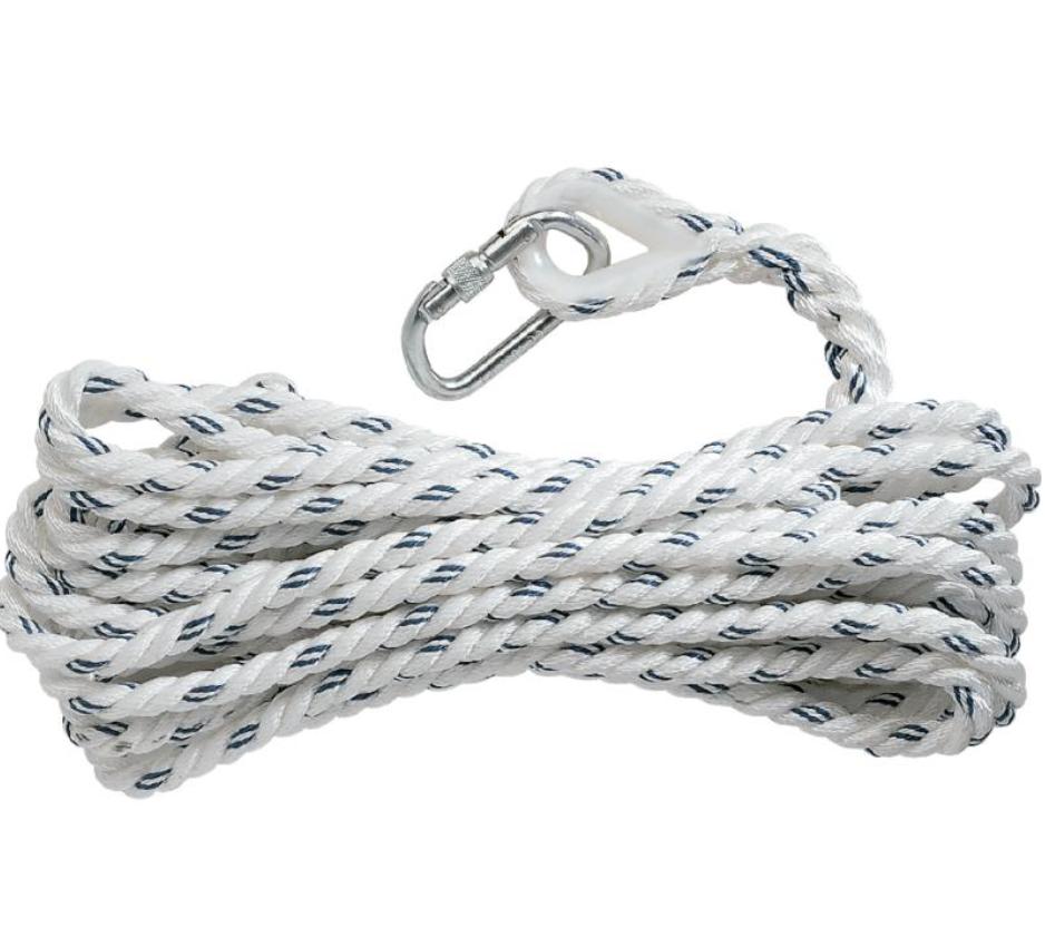 代尔塔503317安全绳 ASCORD®股绳确保器Ø 14 MM + 1 AM002 - 20 M