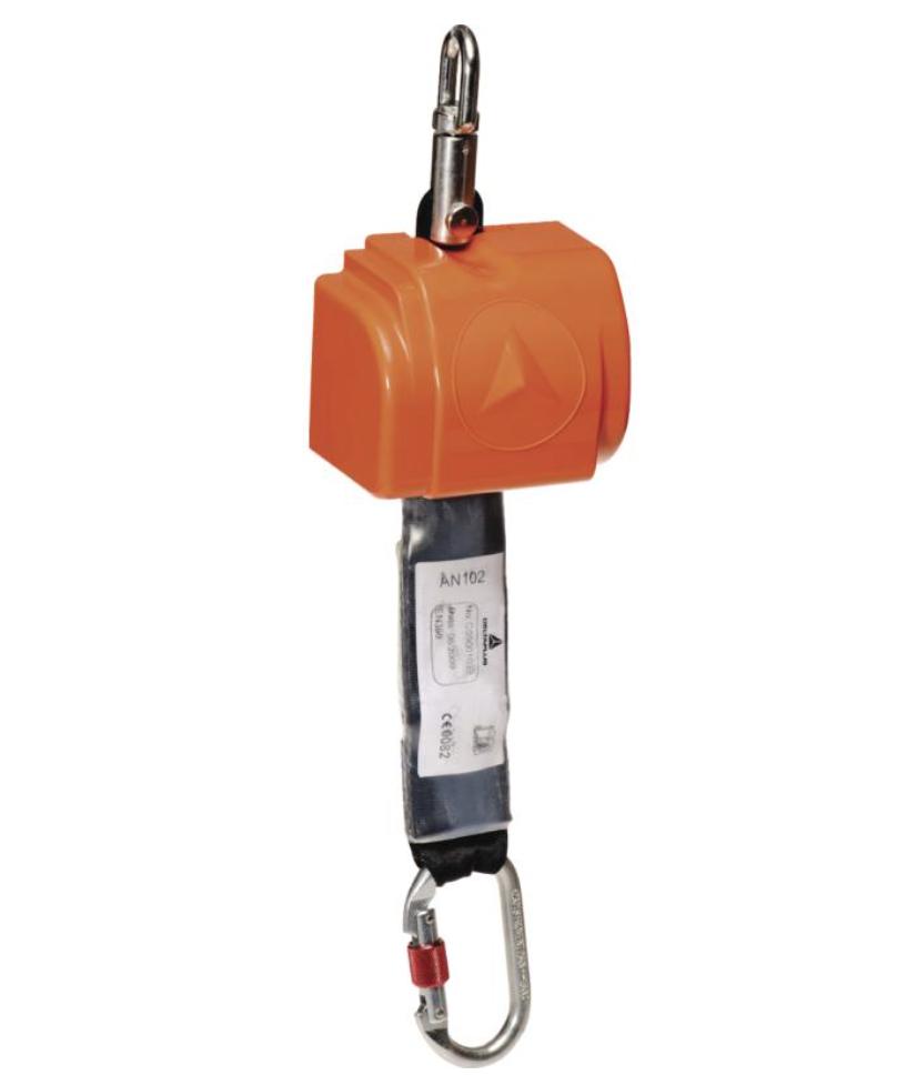代尔塔505102 自动弹回扁绳防坠器 + 1 AM002 - 2.5 M