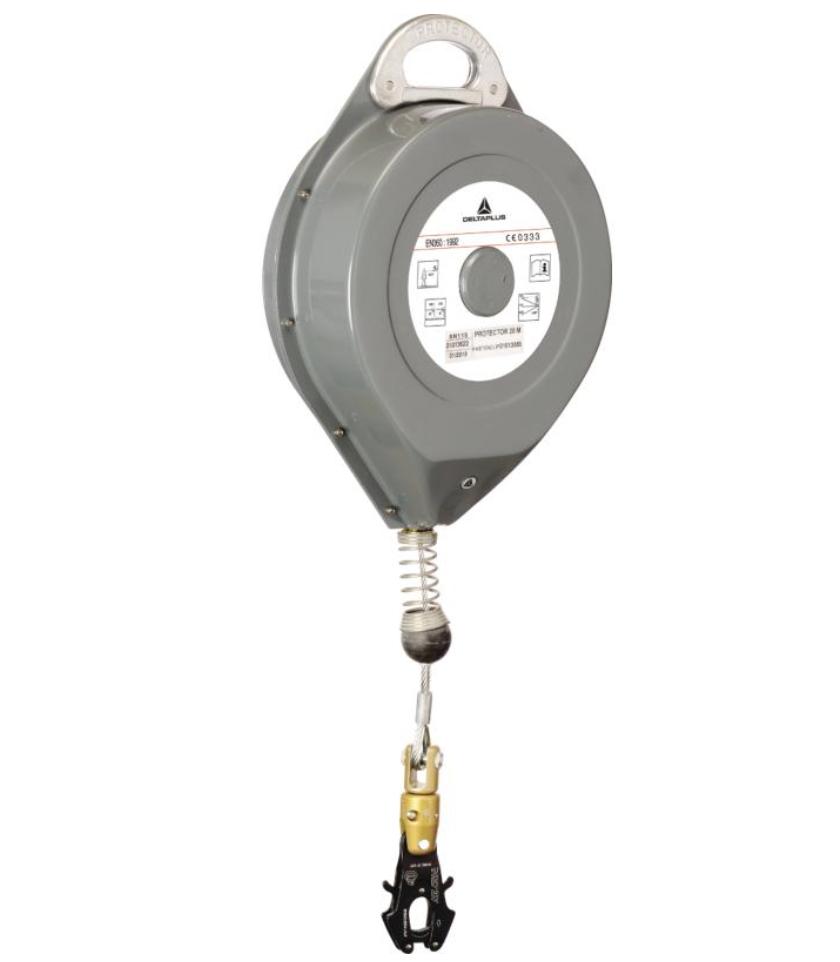 代尔塔505115自动弹回缆绳防坠器 + 1 AM020 - 20 M