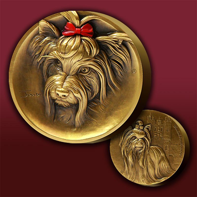 约克夏铜章