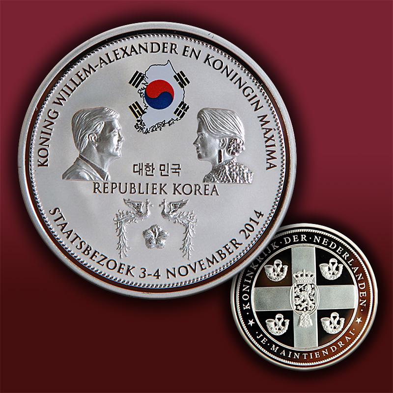 荷兰访问韩国镀银彩印