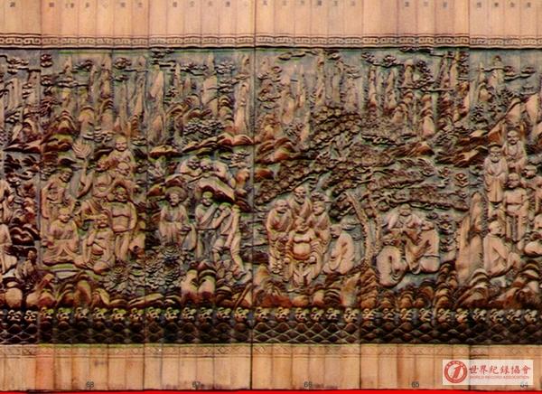 世界最长的竹浮雕《五百罗汉图》壁画——曺宪中、苏琴夫妇创作的竹浮雕《五百罗汉图》壁画
