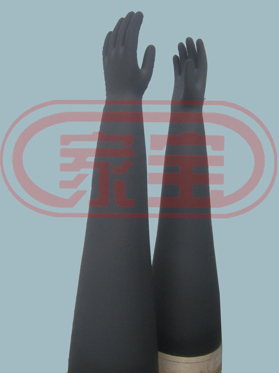 85cm加強型耐酸堿手套