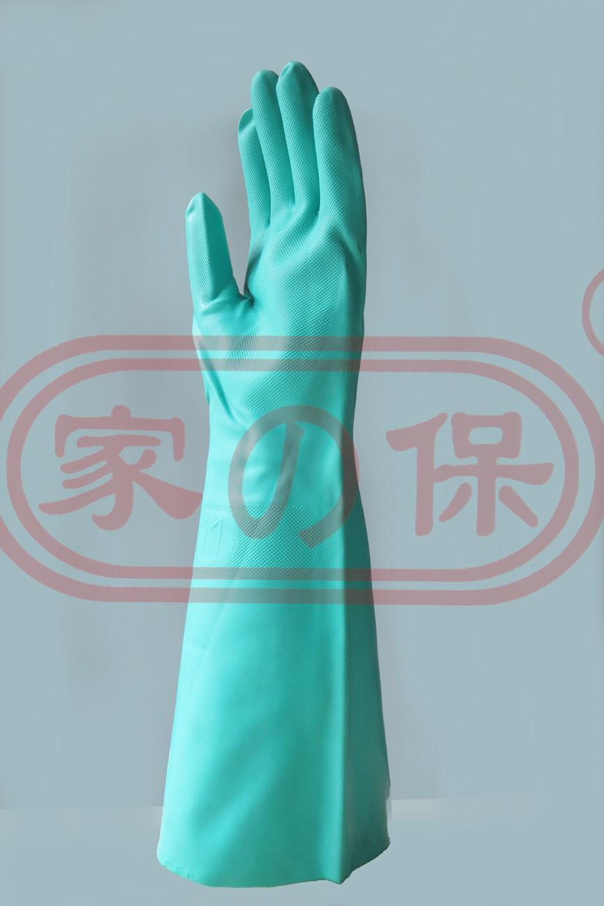 加長加厚45cm丁腈耐油耐溶劑手套