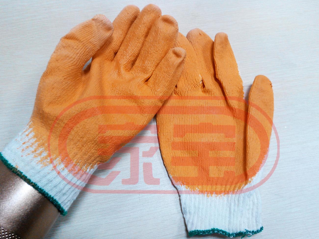 棉紗浸膠手套