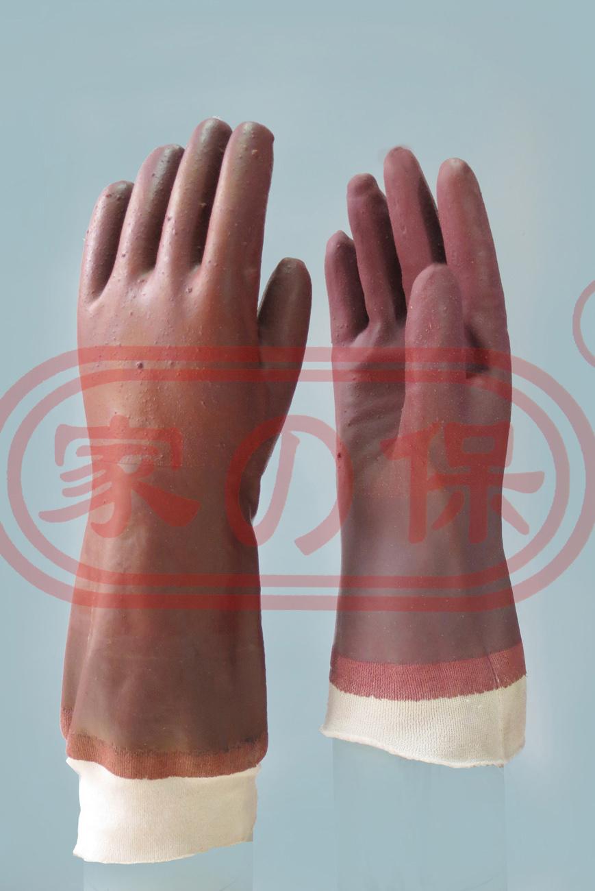 長棉布保暖浸膠手套