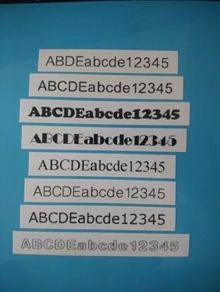 手动标签机怎么设置字体样式