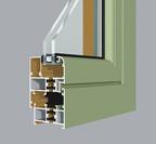 HF-GR50穿條隔熱平開窗